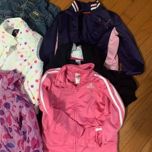Huge Lot of 10 girls size 3t jackets/vests boots